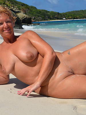 gorgeous nude strand matures photo
