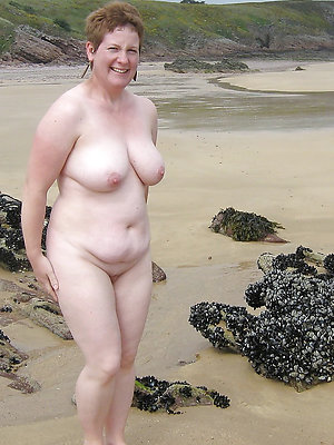 whorish undressed mature beach