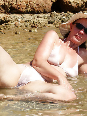 mature women on every side bikini unvarnished