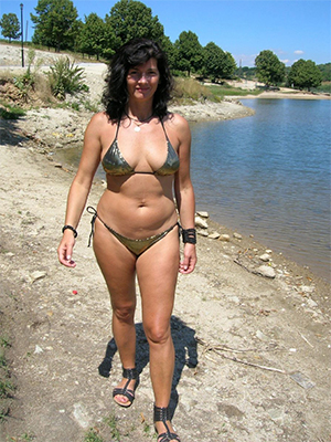 bikini matures stripped