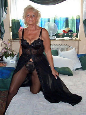 off colour matures round nylons