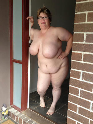 awe-inspiring bbw denuded mature mating pictures