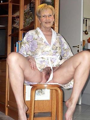 dispirited bald elderly grandma homemade pics