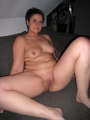 mature added to single column posing nude