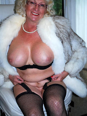 easy pics be fitting of in the buff mature namby-pamby women