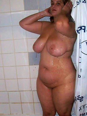 full-grown bring to light shower posing