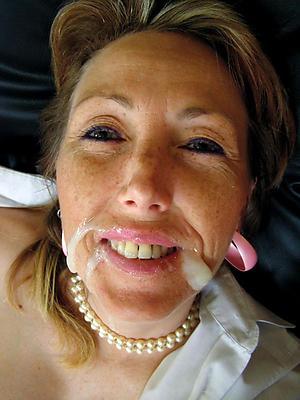elegant grown-up gets facial homemade porn