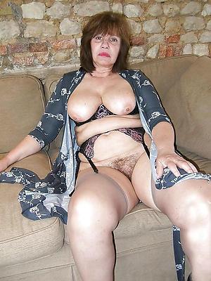 hot elderly women posing mere