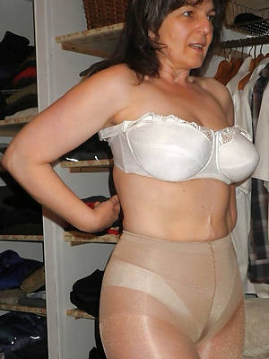 grown-up women in nylons stripped