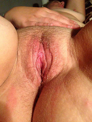 colored hair mature pussy close up