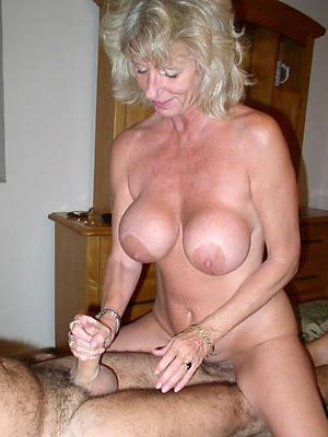 mature milf handjob posing nude