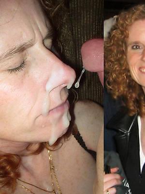 wonderful mature facial cumshot