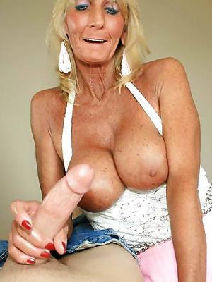 mature giving handjobs unvarnished porn pics