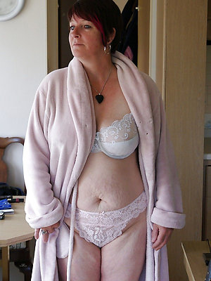 elegant mature women in lingerie