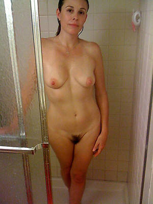 unquestionable old woman full-grown in the matter of shower