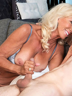 unsightly mature granny handjob