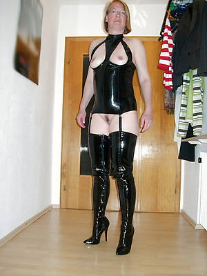 petite grown-up in latex free photograph