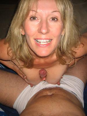 horny big tit mature blow job photos