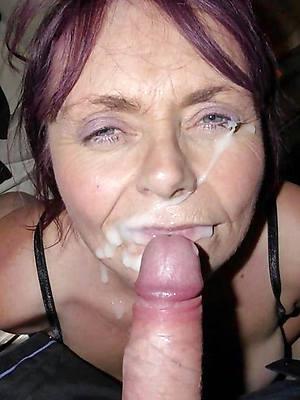 beautiful mature wife facial photo