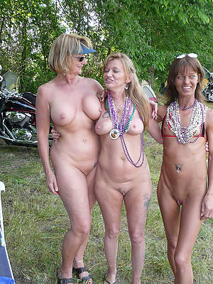 petite grown-up women in threesome