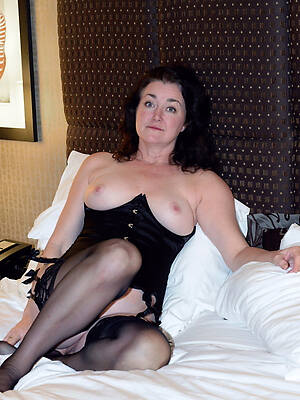 grown up ladies nigh nylons displaying will not hear of pussy