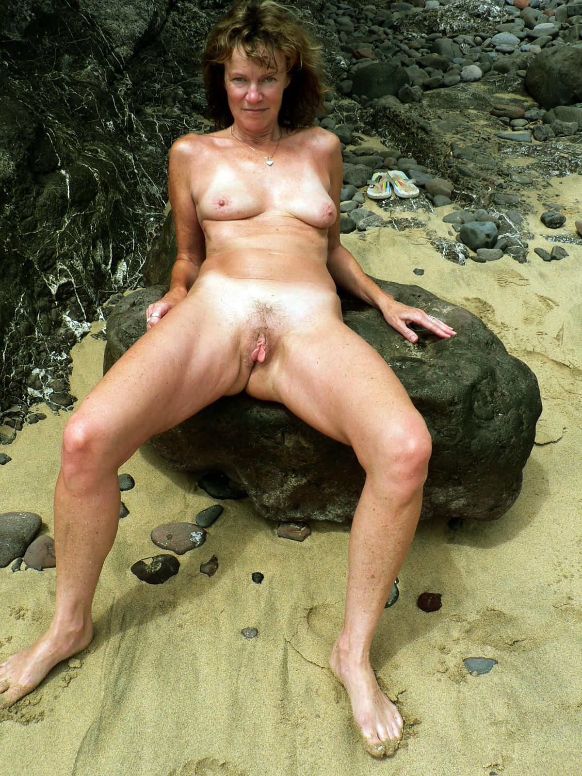 Mature nudist beach