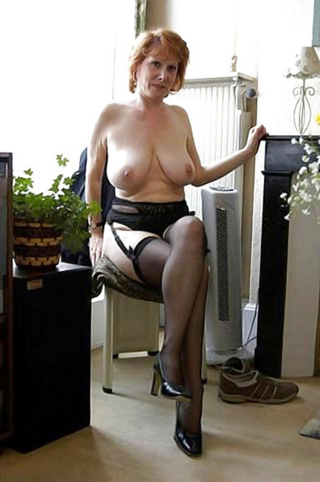 Pics mature stockings Vintage Nylon